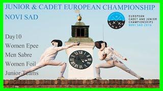 JUNIOR EUROPEAN CHAMPIONSHIP - Team Women Epee Foil Men Sabre - Piste Green