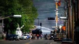 Incendie à Lac-Mégantic 2013 - Jour 1 - Pompiers et Policiers