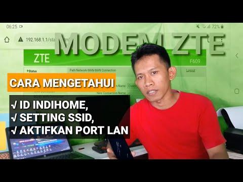 Cara Melihat Nomor Indihome di Modem ZTE F609 Terbaru.
