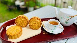 Bánh Trung Thu nhân đậu xanh trứng muối , Bí quyết làm bánh Trung Thu đẹp sắc nét 月餅の作り方