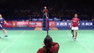 BCA Indonesia Open 2015 Badminton SF M3 WD Yu Y Zhong QX vs Maheswari Polii