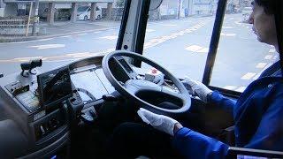 自動運転バスの走行実験始まる 現行バスと同車種・同路線使用 鳥取県八頭町 thumbnail