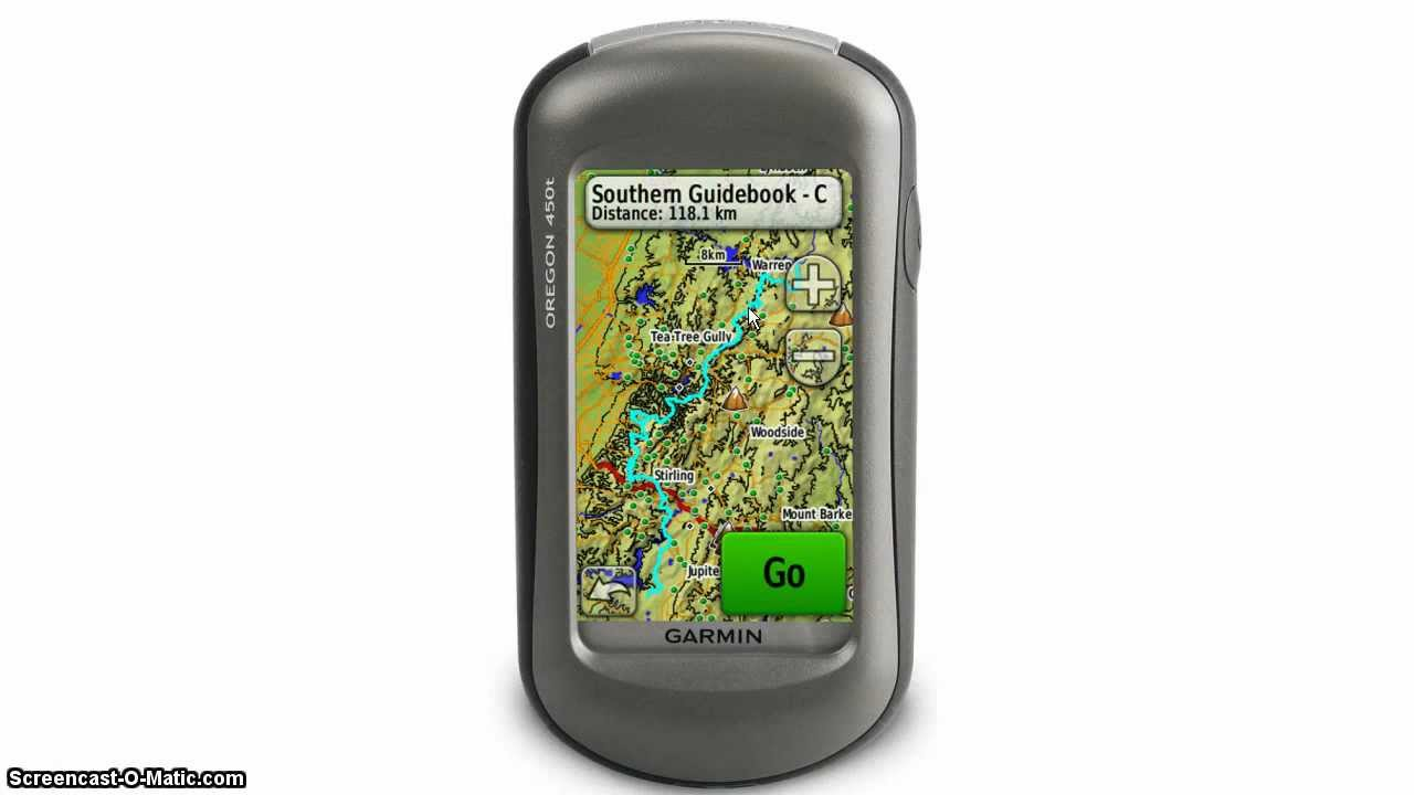 How to load a GPX file onto a handheld Garmin Oregon GPS ...