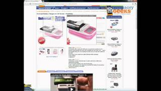 AcccessoryGeeks Universal Pink/White Battery Charger with LCD Screen Product Review