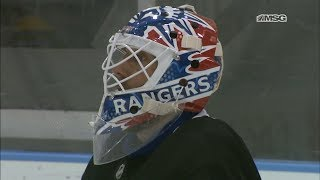 Henrik Lundqvist Rocking New Mike Richter Tribute Mask for Rangers '94 Celebration
