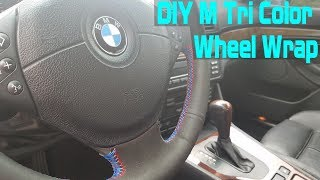 homepage tile video photo for E39 BMW DIY M Tri-Color Steering Wheel Cover