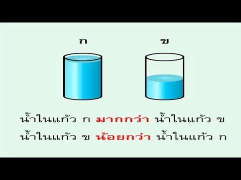 การเปรียบเทียบปริมาตร คณิตศาสตร์ ป.1