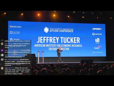 Jeffrey Tucker @ North American Bitcoin Conference 2018