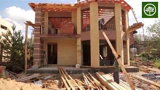 Строительство дома из газобетона с эркером / Строительство домов в Перми / СК Апрель