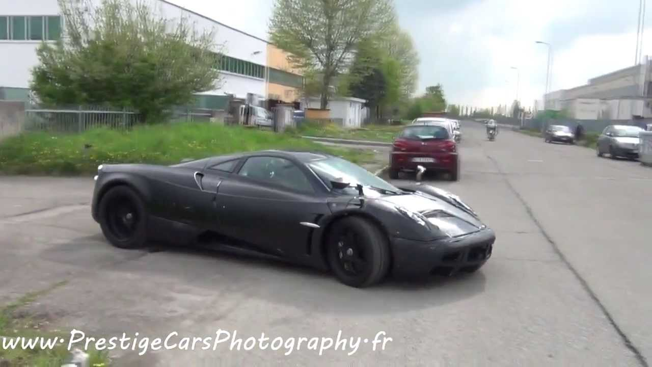 Pagani Huayra Full Black on the road - YouTube