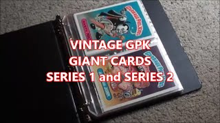 garbage pail kids collection part 3 gpk giant cards series 1 and series 2