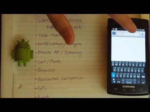 Samsung Captivate with Froyo (Android 2.2)