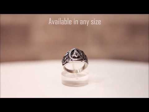 Freemason Masonic ring - Master Mason ring, Square & Compass review
