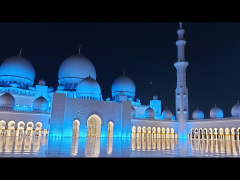 sheikh zayed grand mosque 2021/3rd day of eid at grand mosque/ 2nd biggest mosque in world/ 4K