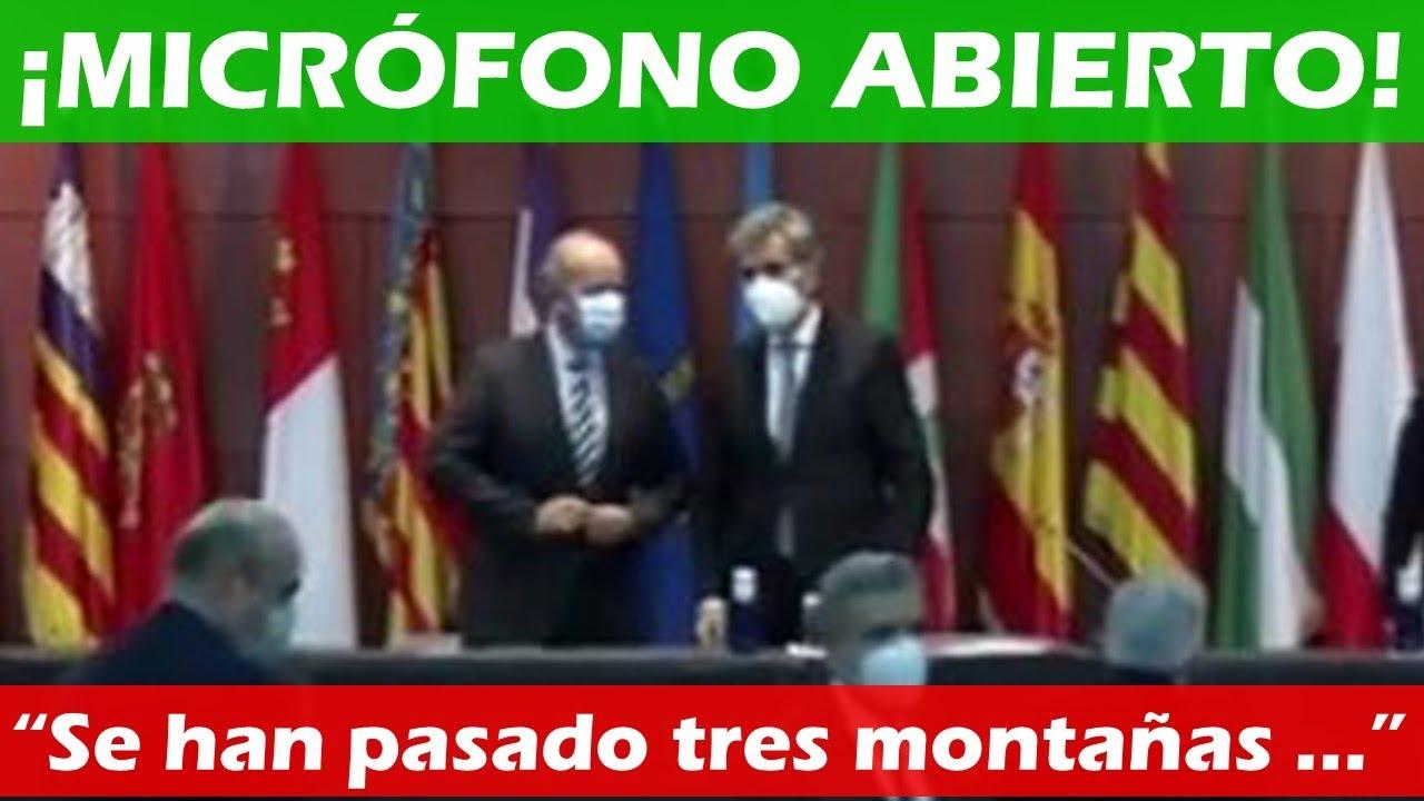Un MICRÓFONO ABIERTO pilla al Ministro de Justicia ABRONCANDO a los JUECES por gritar ¡VIVA EL REY!