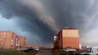 Дождевая буря в Атбасаре, Акмолинская область (03.07.17)