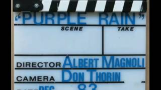 Clapperboard used during the filming of Prince's 1984 classic Purple Rain [don't blink]