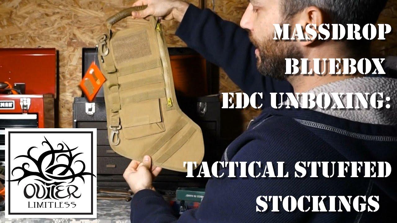 Tactical Christmas Stocking Stuffed.Massdrop Bluebox Edc Unboxing Tactical Stuffed Stockings