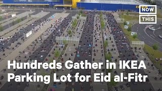 Hundreds Gather in IKEA Parking Lot for Eid al-Fitr Prayers | NowThis