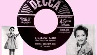 LITTLE BRENDA LEE - Bigelow 6-200 (1956) YouTube Videos