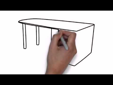 How To Draw Office Desk Youtube