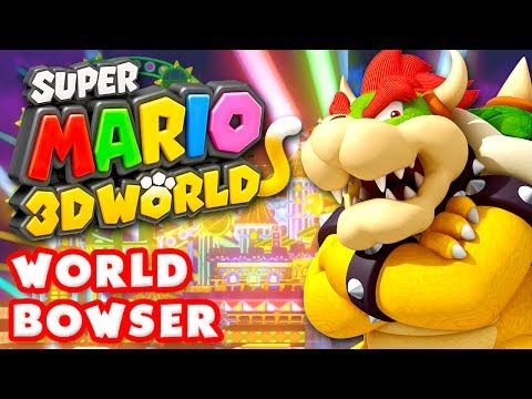 Super Mario 3D World - World Bowser 100% Nintendo Wii U Gameplay Walkthrough