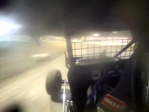 Tony Rost IMCA RaceSaver 305 Sprint Car A Main @ Eagle Raceway 4/27/14 in car video
