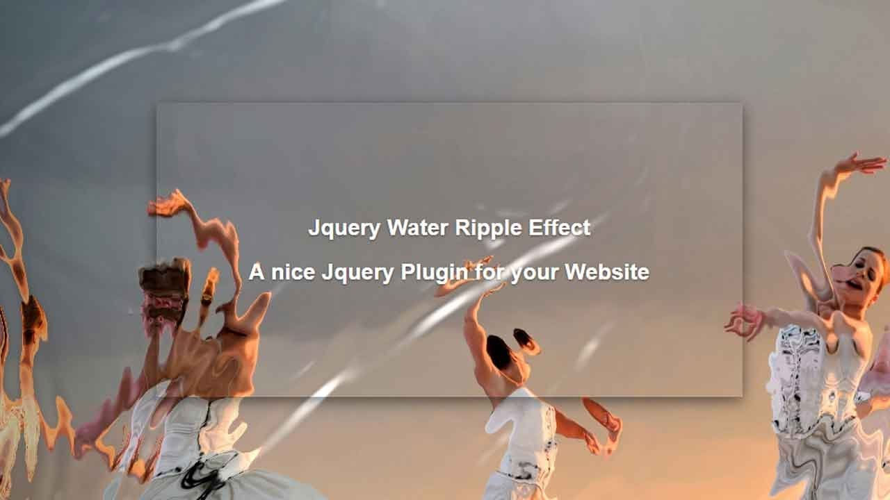 JQuery Water Ripple Effect | Jquery background animation | JQuery Plugins  Tutorial