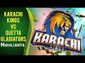 Match 4: Karachi Kings vs Quetta Gladiators - Complete Highlights
