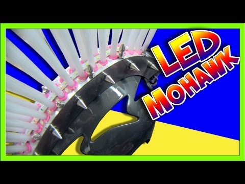 Making a support brace and mohawk LEDs strobe