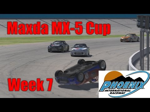WHAT A SAVE !! - Mazda MX-5 Cup @ Phoenix - S3 W7 2016 - IRacing