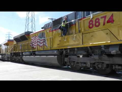 Union Pacific Passenger Train Crew Change in Los Angeles