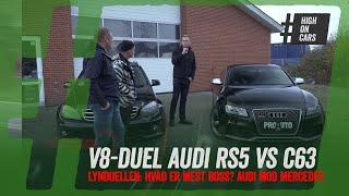V8-duel: Audi RS5 vs Mercedes-Benz C63 AMG. Hvem vinder?