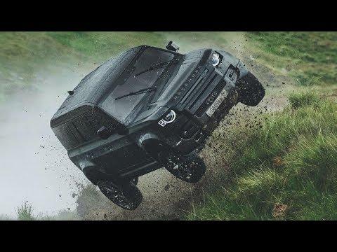 Mira Al Nuevo Land Rover Defender Realizar Acrobacias Extremas