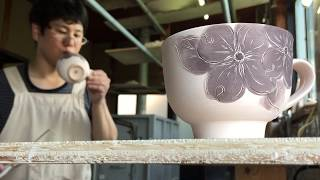 【Japanese traditional crafts】 Making coffee cup / 【陶芸】コーヒーカップの制作