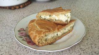 Вкуснейший пирог с сыром и зеленью из универсального теста