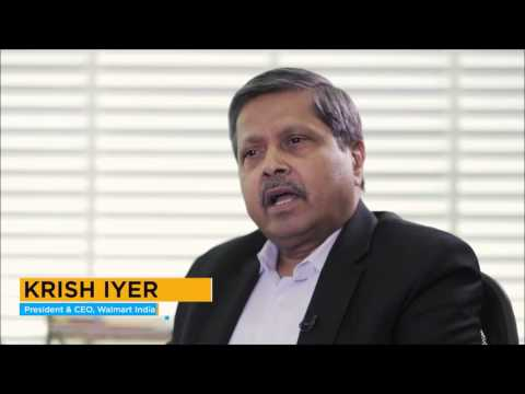 Krish Iyer, President and CEO, Walmart India on World Food India