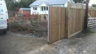 Wooden Sliding Electric Gate Part 1