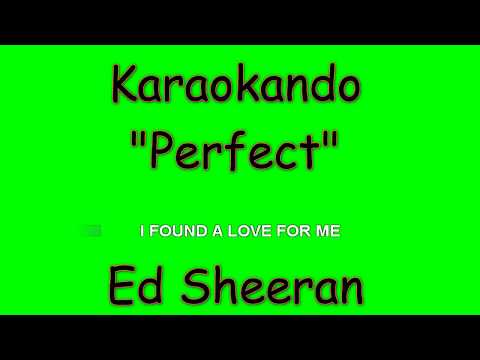 Karaoke Internazionale - Perfect - Ed Sheeran ( Lyrics )