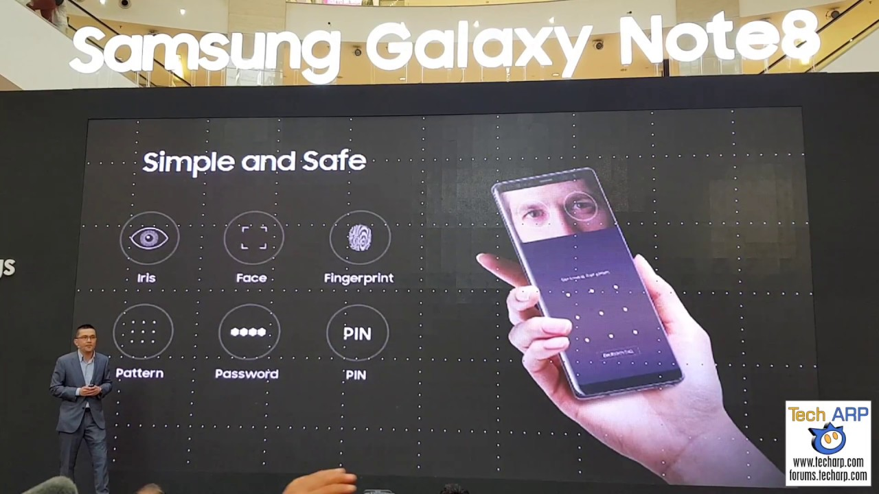 The Samsung Galaxy Note8 Key Features Presentation Youtube