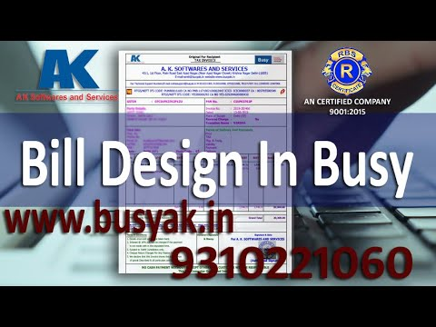 Bill Design Busy Accounting Software 921016132