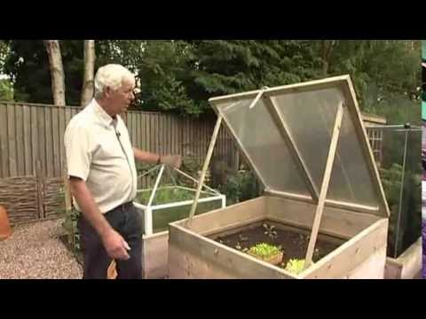 Wooden Cold Frame - Allotment and Raised Bed Frost Protection - YouTube