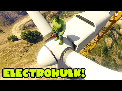 HULK and Spiderman repaired big wind turbine on High altitude! Cartoon for kids