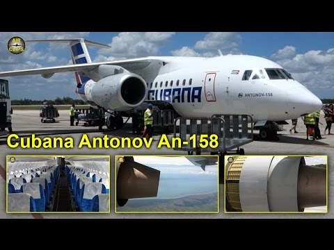 Cubana Antonov An-158 La Habana to Holguin FANTASTIC [AirClips full flight series]