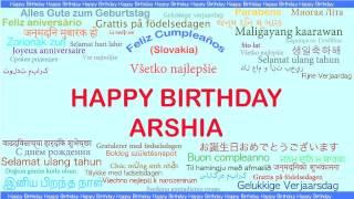Arshia   Languages Idiomas - Happy Birthday