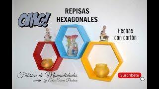 DIY. Repisas Hexagonales. Hechas con cartón.