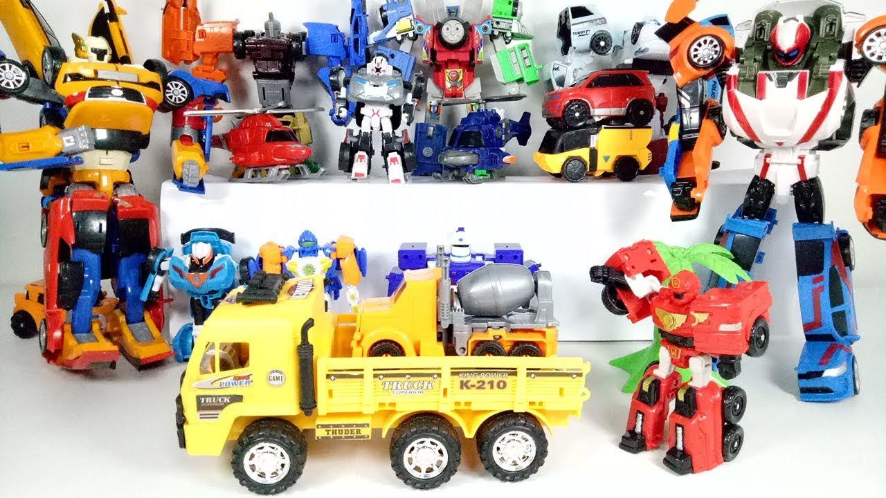 Tobot Athlon Cement Mixer Truck Transformer Toys