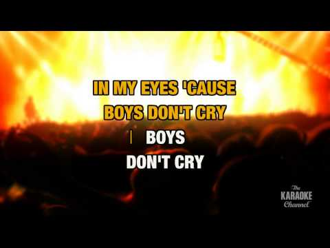 "Boys Don't Cry in the Style of ""The Cure"" with lyrics (no lead vocal)"