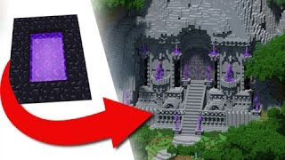 How To Transform A Nether Portal - EPIC Build! thumbnail