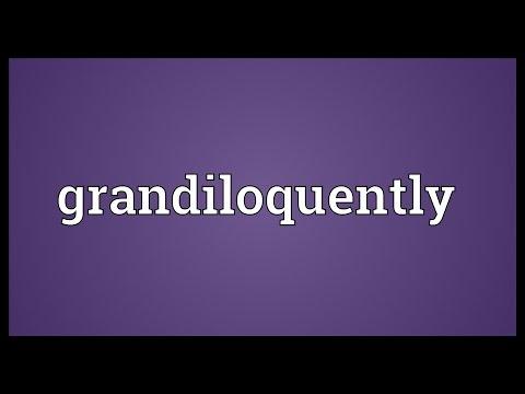Header of grandiloquently
